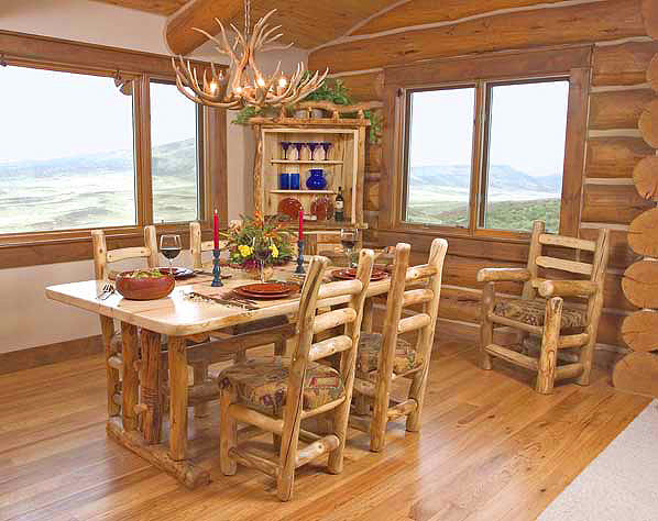 Amazing Rustic Log Dining Room Furniture 598 x 474 · 64 kB · jpeg