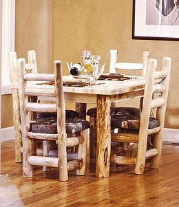 Rustic Log Dining Room Furniture Aspen Log Dining Room