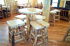 Rustic restaurant furniture rustic hotel and commercial wholesale log