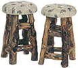 custom stools out of log furniture