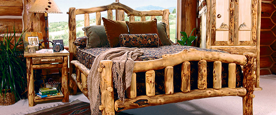 Imagine Sleeping Peacefully In Your Nature Themed Bedroom As You Wrap  Yourself In The Warmth Of Our Aspen Log Furniture. Each Unique Handcrafted  Bed Is ...