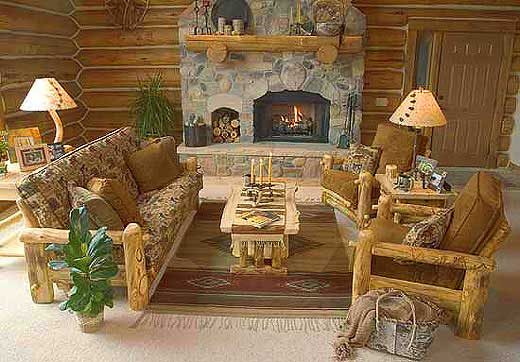 Rustic Aspen-Pine Log Furniture Stores, Lodge Furniture by