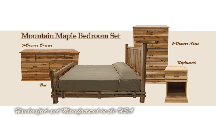 . Mountain Woods Furniture   Mountain Maple Bedroom Set