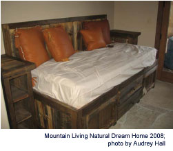 Reclaimed Wood Bed by Mountain Woods Furniture