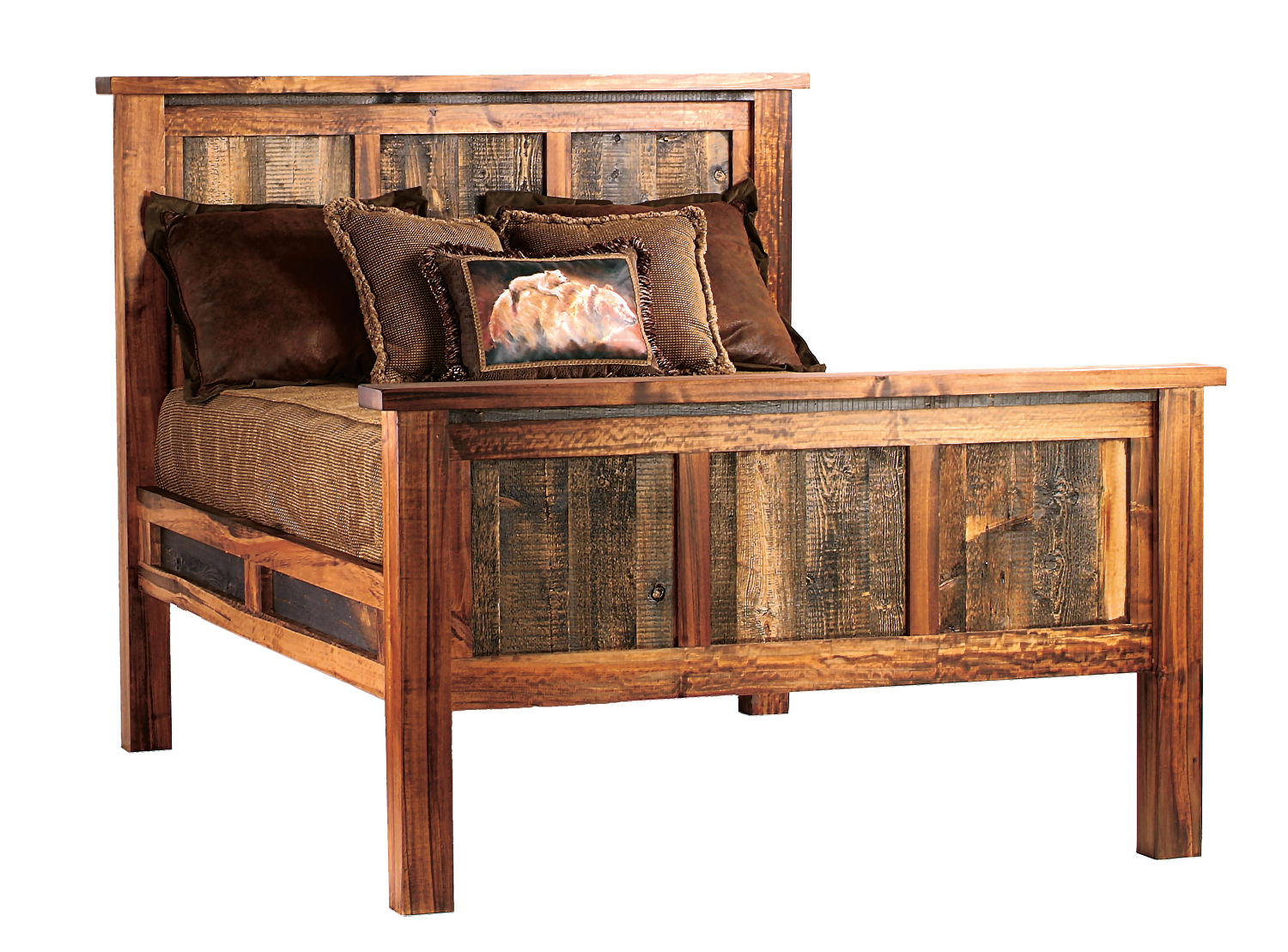 Wyoming  Queen Bed. MWF   Mountain Woods Furniture