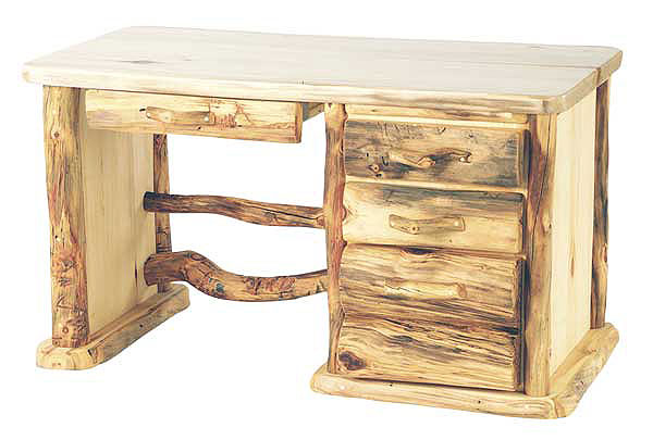 rustic log office furniture aspen pine log desks log