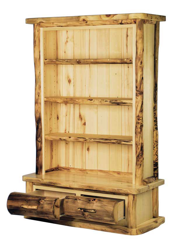 Rustic Log Office Furniture  Aspen & Pine Log Desks  Log Bookcases