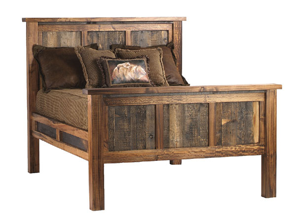 Pics Photos Log Bedroom Furniture Bed Reclaimed Wood Beds