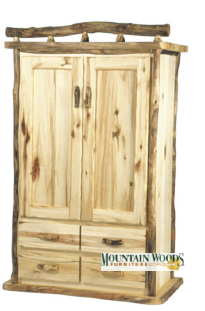 Large 4 Drawer Cedar Lined Armoire