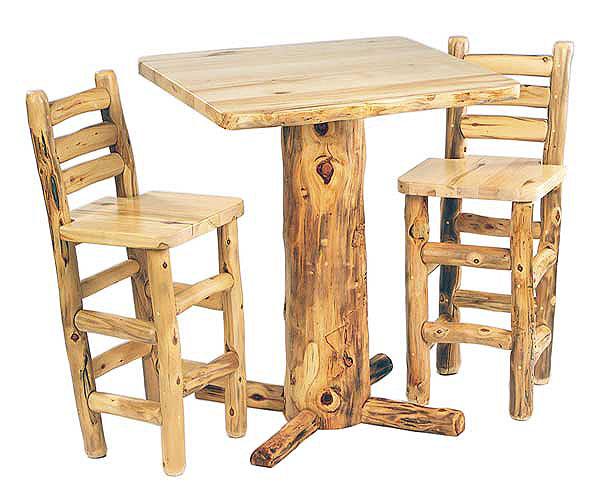 log furniture pub table 1
